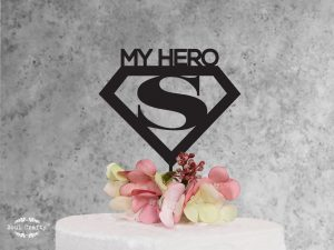 my hero fathers day cake topper