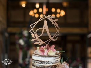 square iniital cake topper